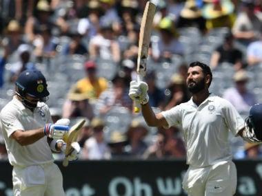 Cheteshwar Pujara scored his 17th Test ton on Thursday. AFP