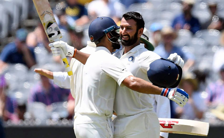 Cheteshwar Pujara stole the limelight yet again on Day 2 of the MCG Test as he reached his17th Test ton, and his second on this tour. He finished with 106 made off 319 balls which is indicative ofhis grit and resolute mindset. AP