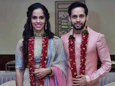 The two shuttlers have been in a relationship for a long time. Twitter@NSaina