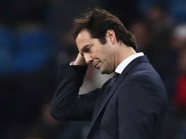 Soccer Football - Champions League - Group Stage - Group G - Real Madrid v CSKA Moscow - Santiago Bernabeu, Madrid, Spain - December 12, 2018 Real Madrid coach Santiago Solari reacts REUTERS/Sergio Perez - RC12FE2D24B0