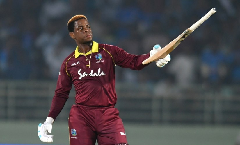 Big-hitting Windies player Shimron Hetmyer has already been a hit in Caribbean Premier League. AFP