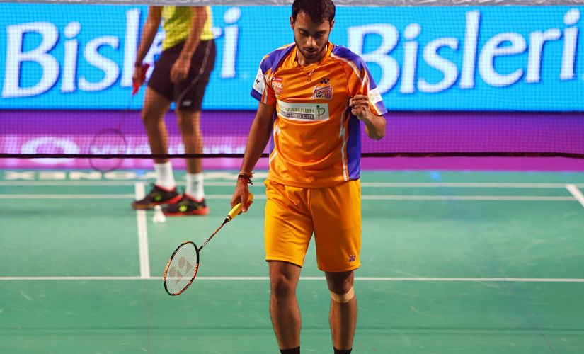Sourabh Verman in action for Ahmedabad Smash Masters. Image Courtesy: Twitter @PBLIndiaLive