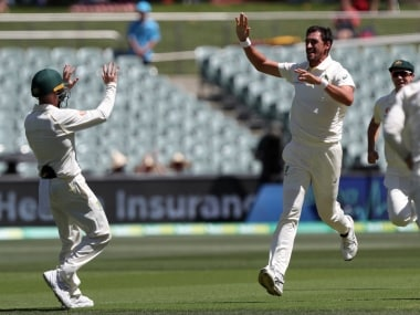 Mitchell Starc bagged two wickets on first day of Adelaide Test. AP