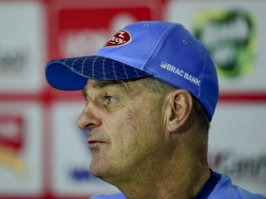 File image of Bangladesh coach Steve Rhodes. AFP