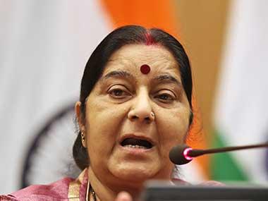 File image of External Affairs Minister Sushma Swaraj. AP