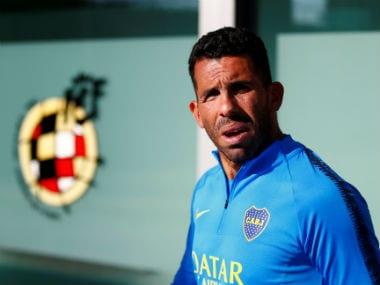Boca Juniors' Carlos Tevez during a press conference. Reuters