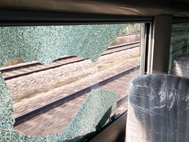 Days before Train 18 launch, stone-pelters damage glass window during trial run; Indian Railways hopes to nab culprits