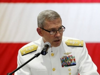 Admiral Scott Stearney served in various roles in the US naval force. AP