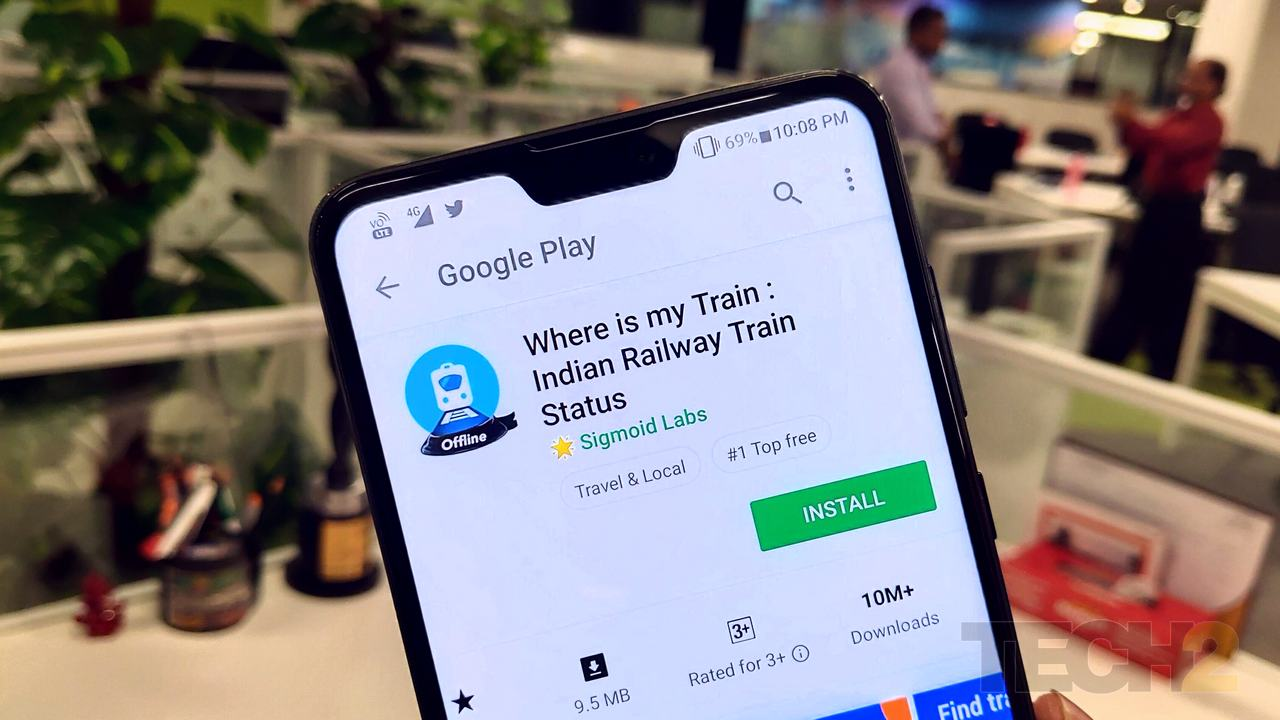 Where is My Train app on the Play Store. Image: tech2