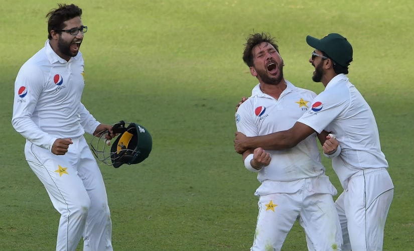 Yasir Shah played a key role in Pakistan's innings victory over New Zealand in the 2nd Test at Dubai with figures of 8/41 and 6/143. AFP