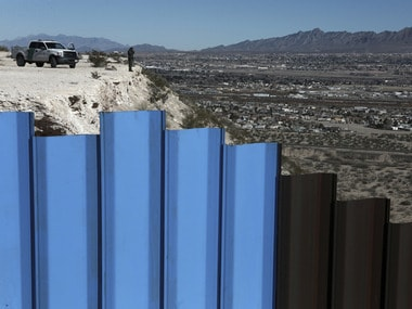 A section of the US Mexico border fence. AP