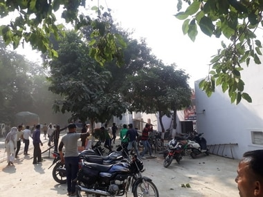 Protesters in Bulandshahr on Monday. Image: 101Reporters