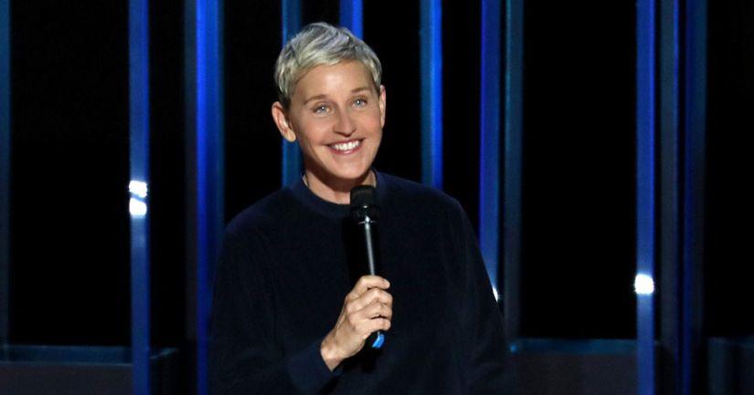 Ellen DeGeneres in a still from Relatable. Netflix