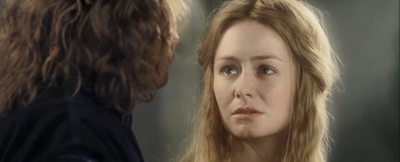 Eowyn in a scene from one of The Lord of the Rings movies. Youtube screengrab