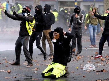 Yellow vest protesters in France. File image. Reuters