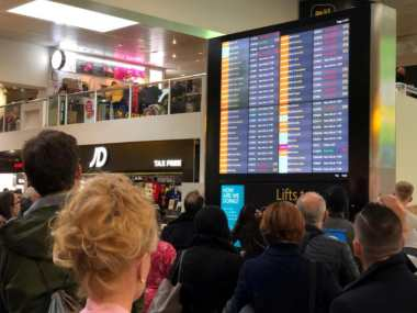 Many flights out of Gatwick airport were cancelled, leaving thousands stranded.