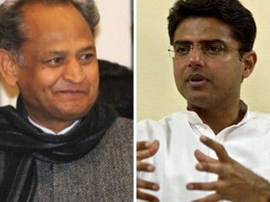 Ashok Gehlot and Sachin Pilot are the Congress' possible chief ministerial candidates in Rajasthan. AFP