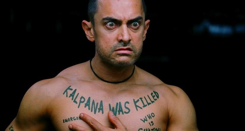 Aamir Khan in a still from Ghajini. YouTube