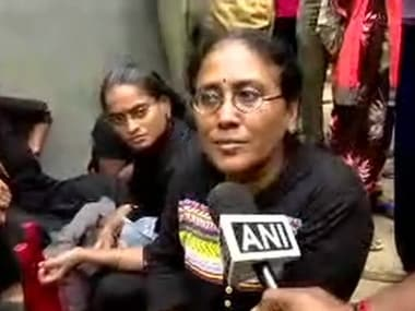 Selvi, one of the women devotees who had come from Chennai to visit the Sabarimala temple. ANI