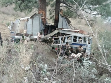 One killed, 34 ITBP personnel injured as bus falls into gorge along Jammu-Srinagar National Highway