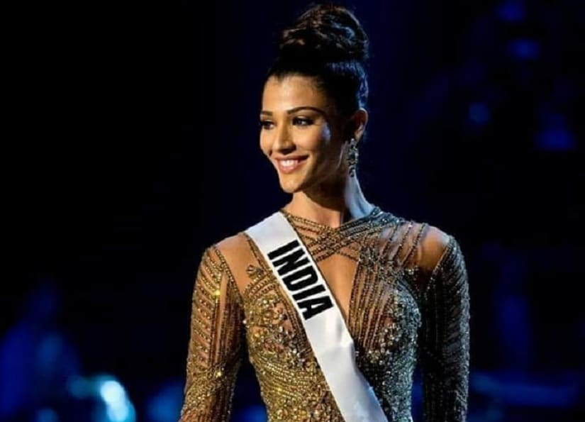 India's Nehal Chudasama failed to make it to the Top 20 of Miss Universe 2018. Image via Twitter/@QueensUniversal