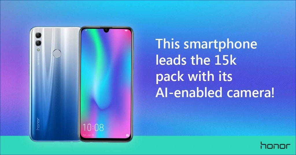 Honor 10 Lite leads the 15k pack against Redmi Note 6 Pro and Realme U1 with its AI-enabled camera