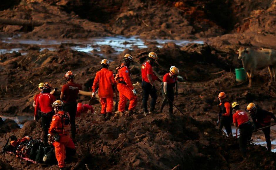 The toll rose to 58 in the dam collapse incident which brought down the structure holding back mine waste in southeastern Brazil on Monday. During the rescueoperation, more bodies were uncovered from deep mud with the help of helicopters. Reuters