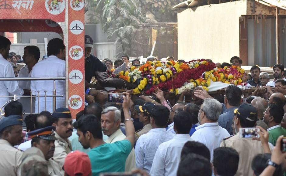 A crowd in thousands had gathered at the cremation ground where the funeraltook place. There were kids, local people, cricketers and politicians who had reached to bid good-bye to the great coach. Network 18