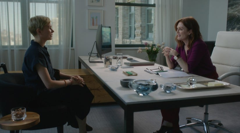 Michelle Williams and Julianne Moore appear in After The Wedding by Bart Freundlich, an official selection of the Premieres program at the 2019 Sundance Film Festival. Courtesy of Sundance Institute | photo by Julio Macat, ASC. All photos are copyrighted and may be used by press only for the purpose of news or editorial coverage of Sundance Institute programs. Photos must be accompanied by a credit to the photographer and/or 'Courtesy of Sundance Institute.' Unauthorized use, alteration, reproduction or sale of logos and/or photos is strictly prohibited.