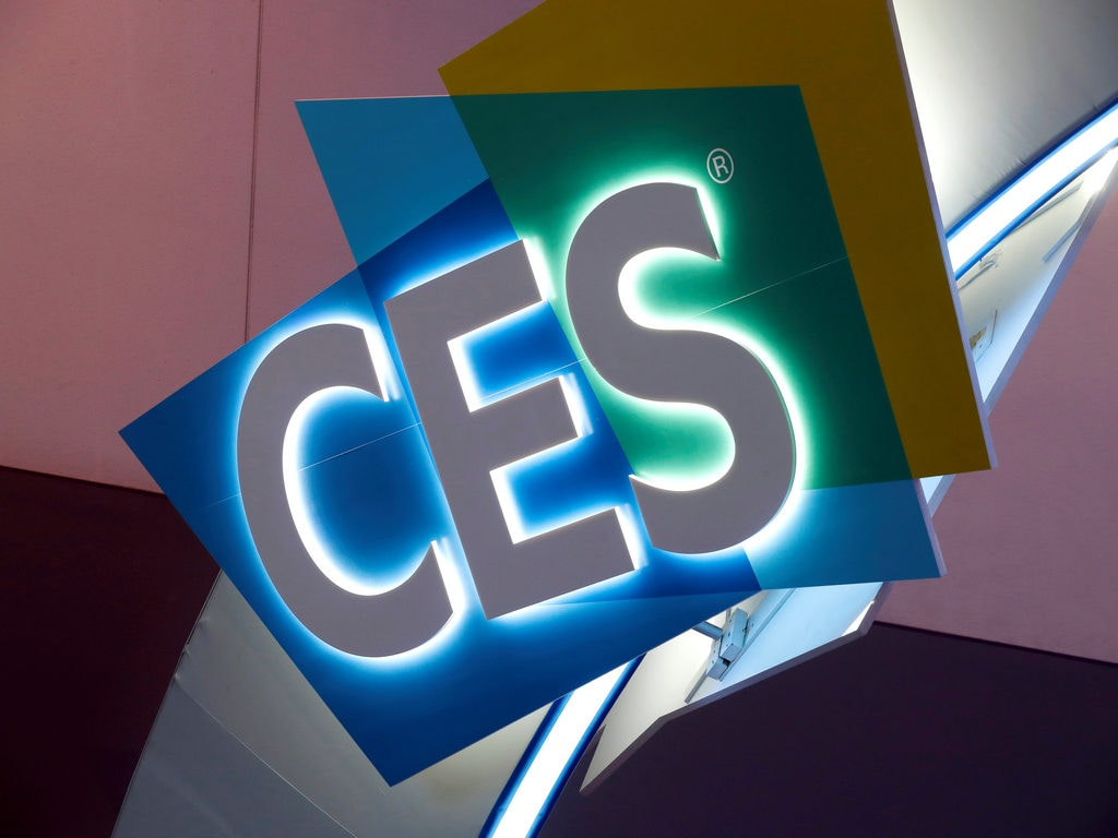 The CES logo is shown at the Las Vegas Convention Center. Image: Reuters