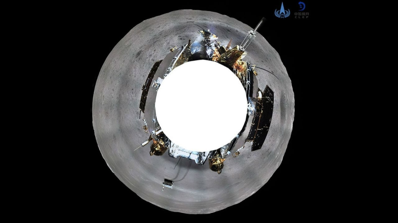 First 360 panoramic images from Chang'e 4. Image: Twitter