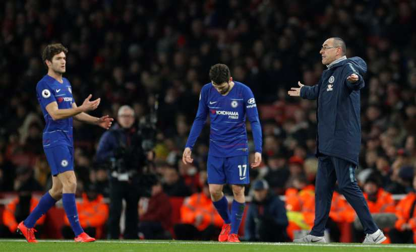 Chelsea's attacking play was very predictable in their 2-0 loss against Arsenal in the Premier League. Reuters