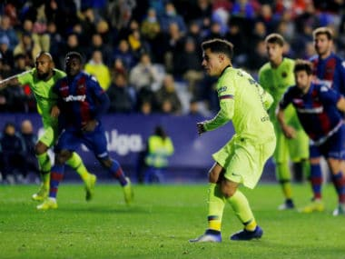 Copa del Rey: Philippe Coutinho penalty gives Barcelona hope despite defeat to Levante; Sevilla beat Athletic Bilbao