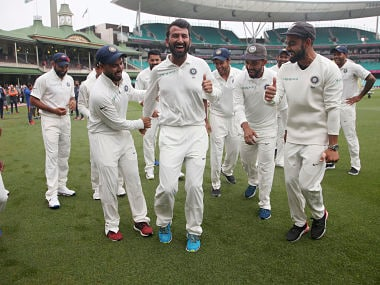 Watch: Cheteshwar Pujara can't dance but inspires Rishabh Pant to invent a new step, gets Virat Kohli's approval