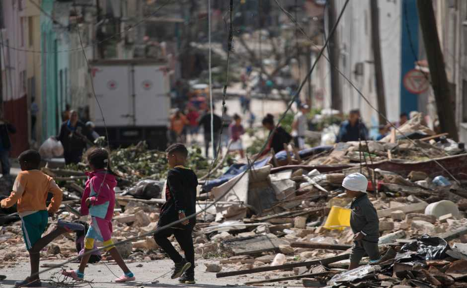 Three people were dead and hundreds injured, at least 12 in critical condition, after the tornado touched down with estimated winds of 200 miles per hour in three neighbourhoods across eastern Havana. AP