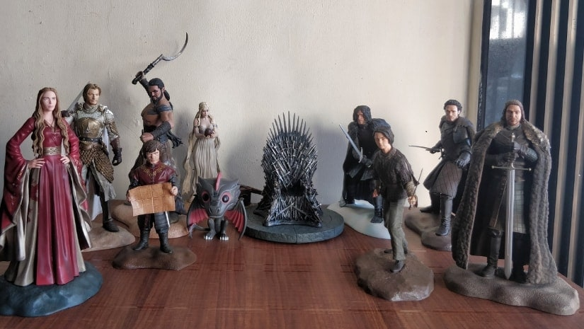 Viraj Pradhan's figurine collection of the characters from HBO's fantasy-drama Game of Thrones. Image courtesy: Viraj Pradhan