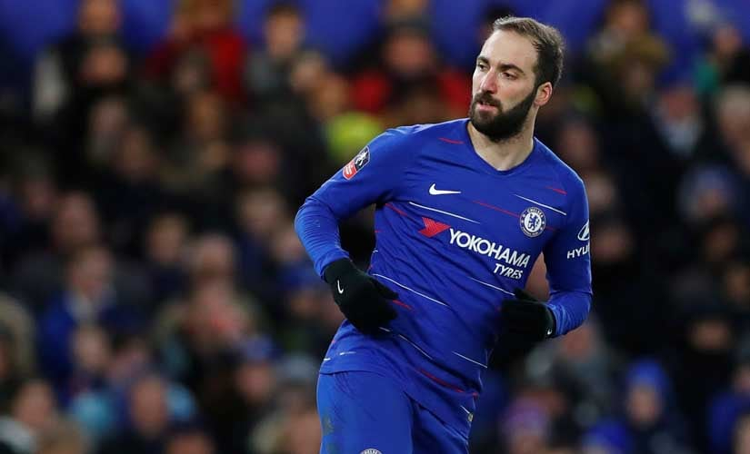 Gonzalo Higuain made his debut for Chelsea in the FA Cup against Sheffield Wednesday. Reuters