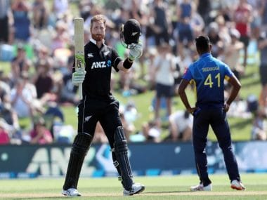 New Zealand vs Sri Lanka: Martin Guptill slams hundred, Jimmy Neesham hits quickfire fifty in Kiwis' 45-run win over visitors in first ODI