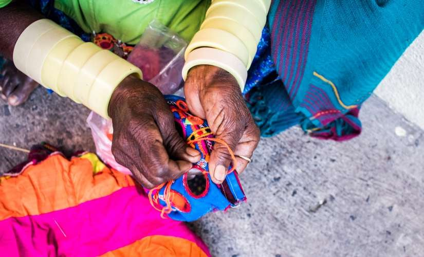 Along with the embroidered dresses, the younger generation is also turning away from the traditional Banjara bangles
