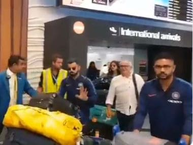 Indian team touches down in Auckland ahead of ODI series against New Zealand