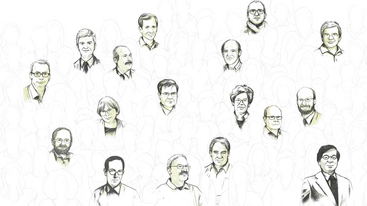 An illustration of some of the most influential researchers of 2018. Image credit: Clarivate Analytics