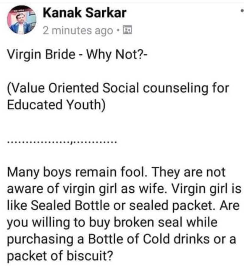 Jadavpur University professor Kanak Sarkar compares womens virginity to bottle seals; shockingly misogynistic says NCW