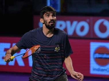 Kidambi Srikanth continued his unbeaten run for Bengaluru Raptors to seal the trump match. Twitter@PBLIndiaLive
