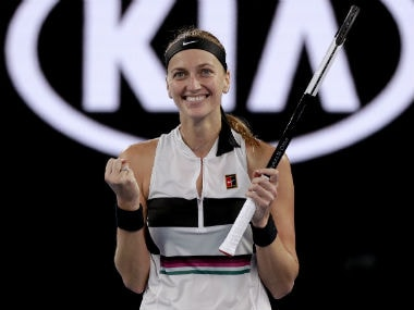 Petra Kvitova is into the semi-finals of the Australian Open. AP