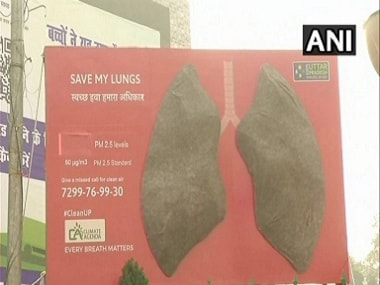 Artificial lungs turned black in 24 hours in Lucknow. ANI