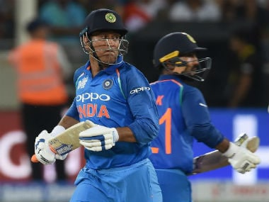 MS Dhoni and Dinesh Karthik are the front-runners for the No 4 spot. AFP