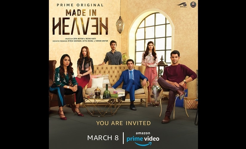 The first look of the Prime Original Series 'Made in Heaven'. Source: Press Release