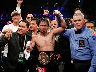 Manny Pacquiao defends welterweight title with 12-round demolition of Adrien Broner, calls out Floyd Mayweather