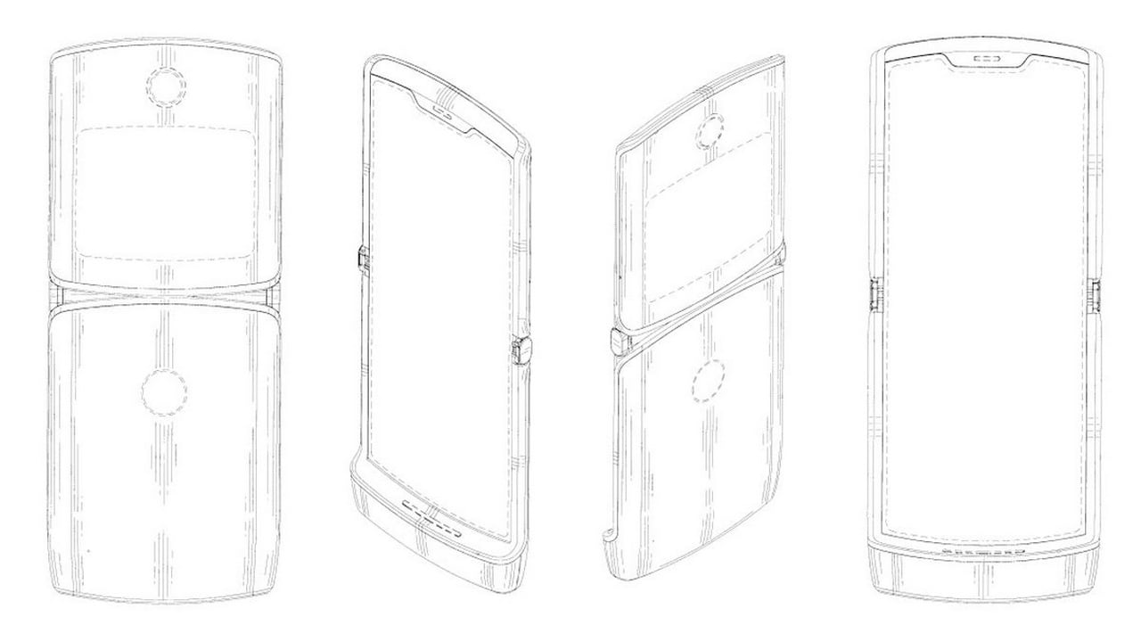New Motorola patent reveals 2019 Moto RAZR design with a foldable display