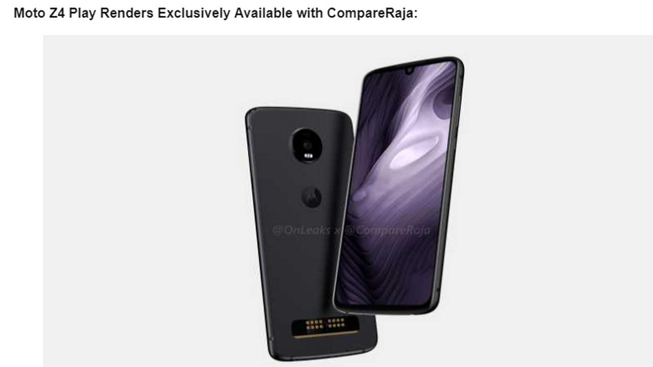 Moto Z4 Play expected to feature a Snapdragon 675 SoC and a 48 MP rear camera